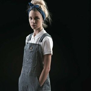 NWT Dickies Hickory Stripe Bib Overall  Dungarees